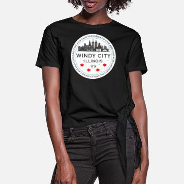 Windy City The Windy City Chicago Illinois US - Dame knot-shirt