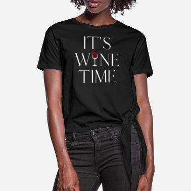 Weinrebe IT'S WINE TIME Weinliebhaber Weintrinker - Frauen Knotenshirt