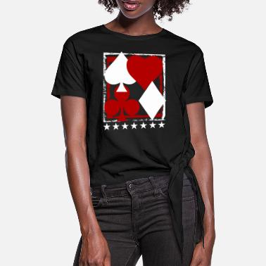 Pokertisch Poker Blackjack Karten Royal Flush Gambling Casino - Frauen Knotenshirt