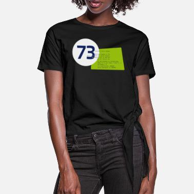 Theorie 73 the best number Big Bang Zahlenrätsel Theorie - Frauen Knotenshirt