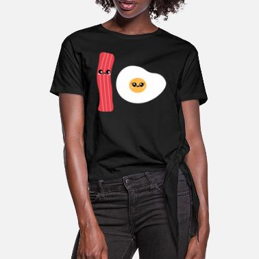 Bacon Bacon Egg - Women's Knotted T-Shirt