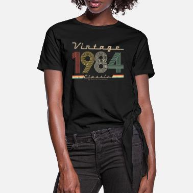 1984 Vintage Classic 1984 pseudo retro year of birth - Women's Knotted T-Shirt