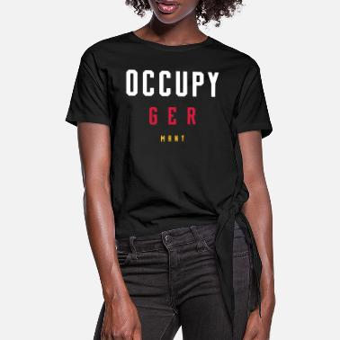Occupy OCCUPY GERMANY - Frauen Knotenshirt