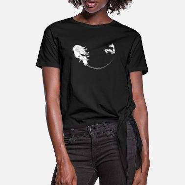 Mermaid Black Outlines - Frauen Knotenshirt