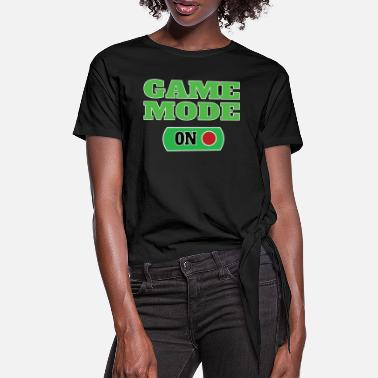 Mode GAME MODE ON - Frauen Knotenshirt