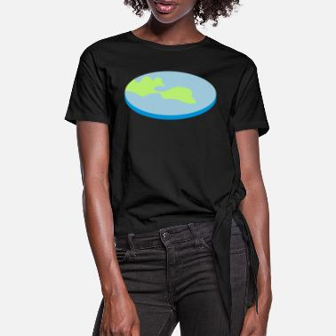 Secret FLATEARTH - Women's Knotted T-Shirt