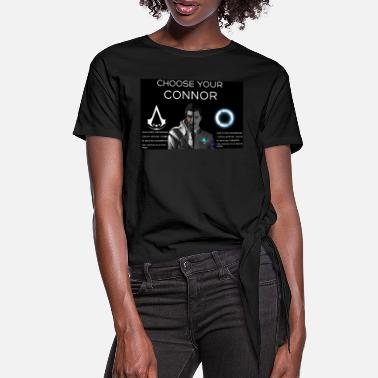 Détroit Choose your Connor - T-shirt à nœud Femme