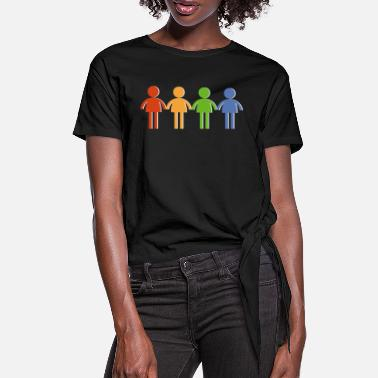 Community community - Women's Knotted T-Shirt