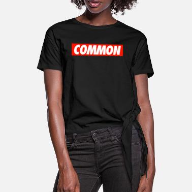 Common Common - Women's Knotted T-Shirt