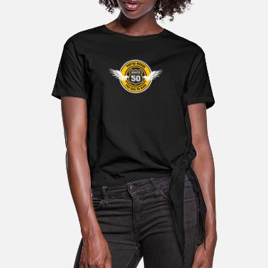 Route Route 50 - Gift 50th Birthday Biker Motorcycle - Women's Knotted T-Shirt