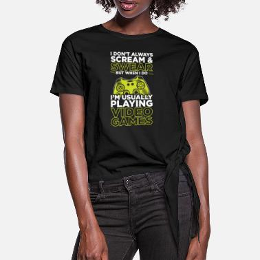 Nerd Gamer gaming video games - Women's Knotted T-Shirt