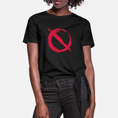 Prohibited Prohibition prohibited - Women's Knotted T-Shirt