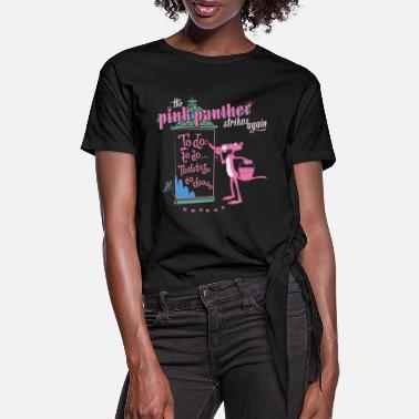 Pink Panther Strikes Again - Women's Knotted T-Shirt