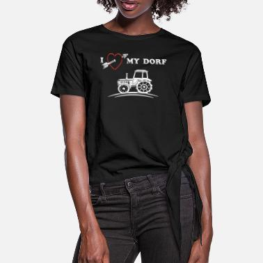 Village Village village gift village love funny - Women's Knotted T-Shirt