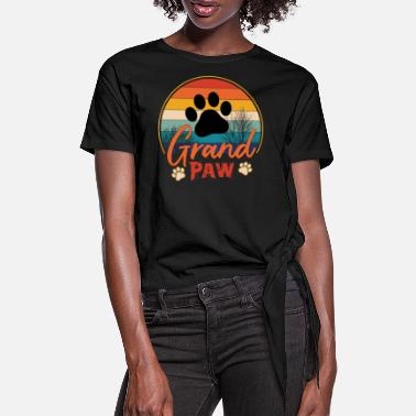 Grand Grand Paw - Women's Knotted T-Shirt