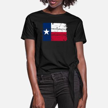 Lone Star Lone Star flag of Texas - Women's Knotted T-Shirt