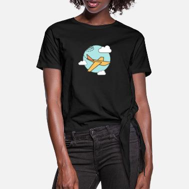 plane - Women's Knotted T-Shirt
