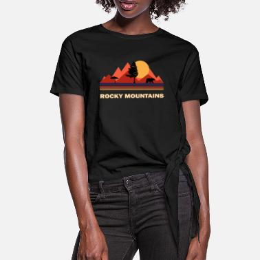 Rocky Mountains Rocky Mountains - T-shirt med knut dam