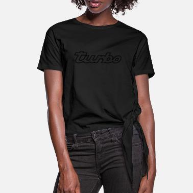 Turbo Car turbo - Women's Knotted T-Shirt