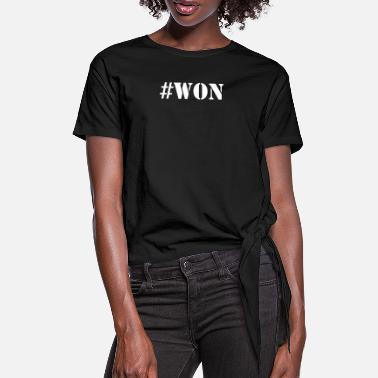 Won #WON - Women's Knotted T-Shirt