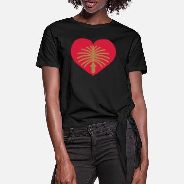 Habor Love Dubai | Herz | Heart - Women's Knotted T-Shirt