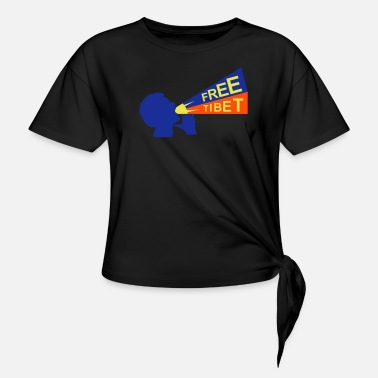 Independence free tibet - Knotted T-Shirt