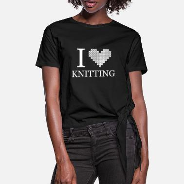 Knitted Knitting knitting - Women's Knotted T-Shirt