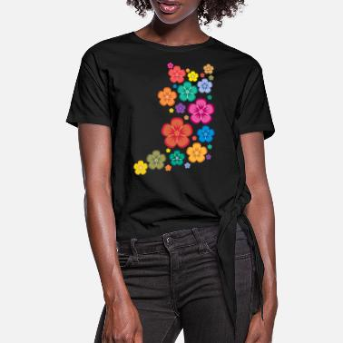 New Age New Age Flower Power - Frauen Knotenshirt