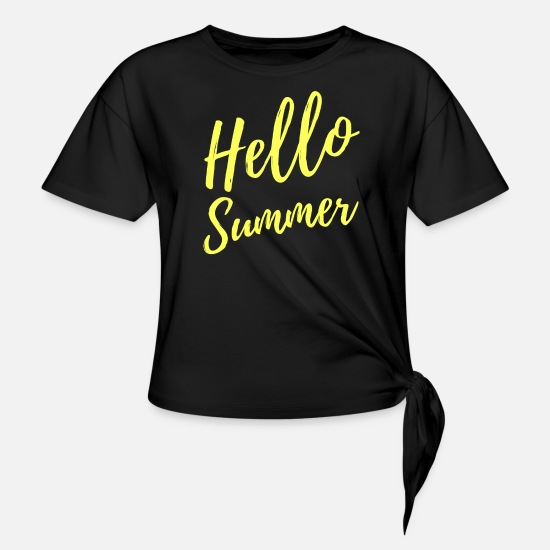 Hello T-Shirts - HELLO SUMMER - Knotted T-Shirt black