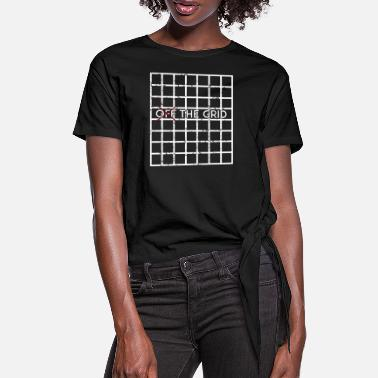 Grid Grid - Off the Grid - Women's Knotted T-Shirt