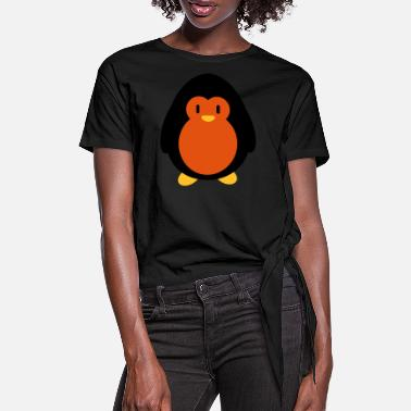 Store Sweet penguin - Women's Knotted T-Shirt