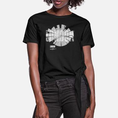 London London Map - Women's Knotted T-Shirt