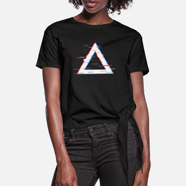 Aesthetics Triangle Aesthetic - Women's Knotted T-Shirt