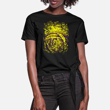 Torn Apart Torn flower - Women's Knotted T-Shirt