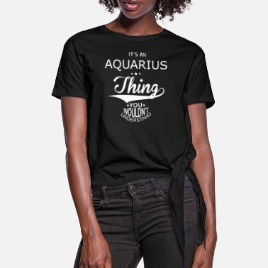 Astrology Aquarius - Women's Knotted T-Shirt