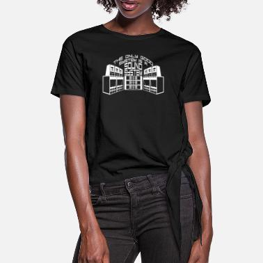 System THE ONLY GOOD SYSTEM IS A SOUND SYSTEM - Women's Knotted T-Shirt