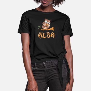 Alba Owl Alba - Women's Knotted T-Shirt