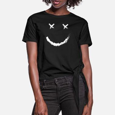 Smile Smilies Emojis Emoticons Motivation Smile - Women's Knotted T-Shirt