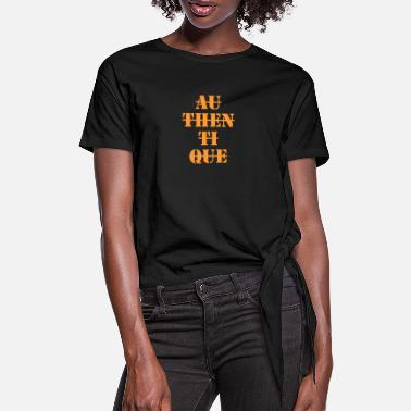 Authentique Authentique - T-shirt à nœud Femme