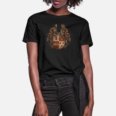 Suit Of Armor Knight's coat of arms logo - Women's Knotted T-Shirt