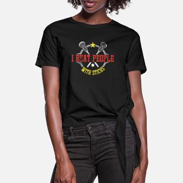 Lacrosse I beat people with sticks - Sportart - Frauen Knotenshirt