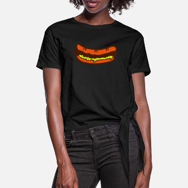 1912 cassecroute hamburger sandwish 1912 - Women's Knotted T-Shirt