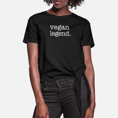 Vegan Legend - T-shirt med knut dam