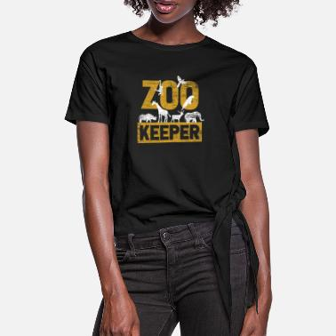 Zoo Animal Zoo animal Zoo Zoo animal keeper - Women's Knotted T-Shirt