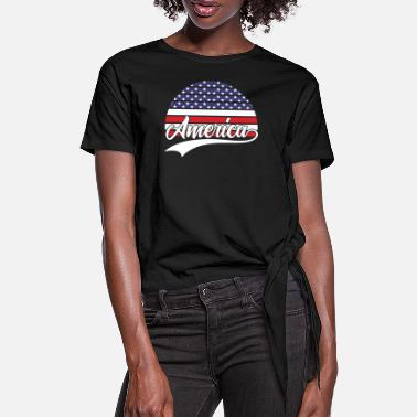Americas America - Women's Knotted T-Shirt