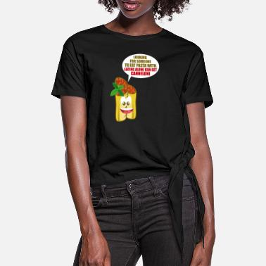 Pasta Canneloni Pasta Fan And Pun Lover Gift - T-shirt med knut dam