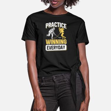 Winning Practice winning everyday Eishockey Hockey Puck - Frauen Knotenshirt