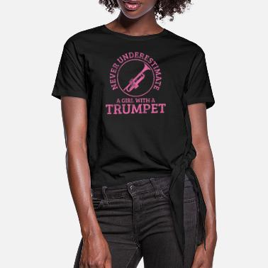 Trumpeter Trumpet Trumpeter - Women's Knotted T-Shirt