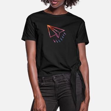 Paper Planes Paper plane, paper plane, paper plane - Women's Knotted T-Shirt
