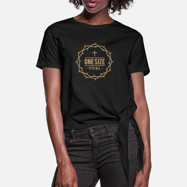 Dornenkrone - Christliches Design - Frauen Knotenshirt